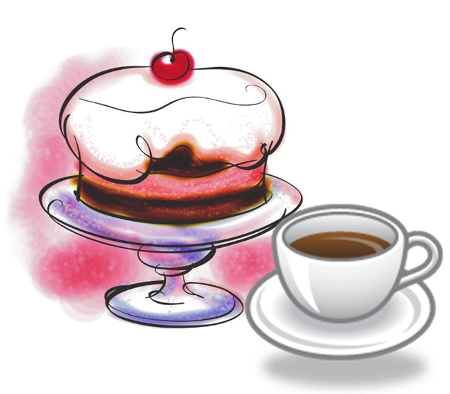 Clip Art Cake And Coffee : Old Dalby WI Coffee Morning & Cake Sale